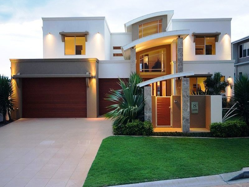 Photo of a tiles house exterior from real australian home for Exterior house facades