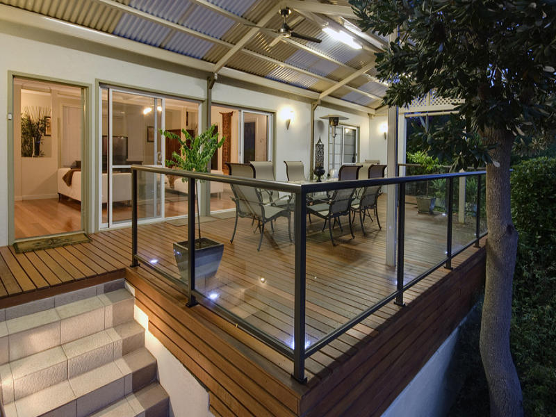 Indoor Outdoor Outdoor Living Design With Balcony Decorative Lighting Using Glass Outdoor