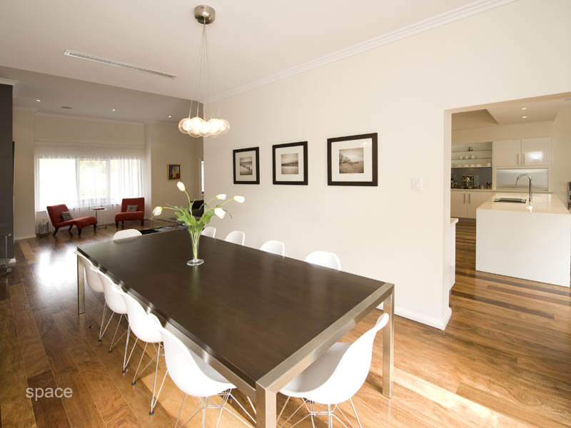 Brown dining room idea from a real Australian home - Dining Room photo 400950