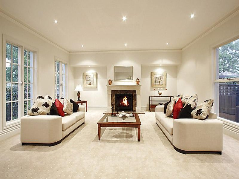 Cream living room idea from a real australian home for Living area design ideas