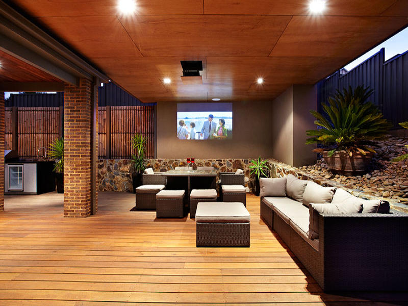Black living room idea from a real australian home for Living area ideas