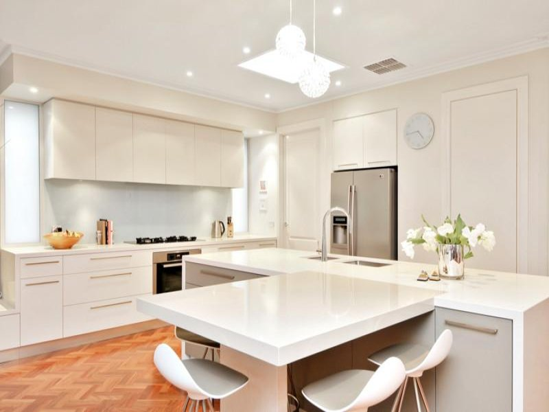 stainless steel in a kitchen design from an australian castle hill modern kitchen sydney by kitchens by
