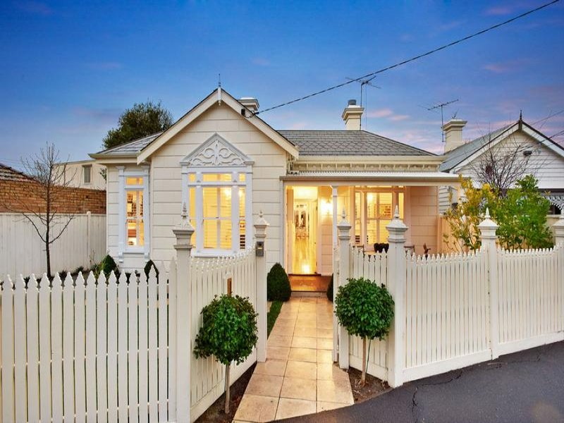 Tiles Edwardian House Exterior With Picket Fence Feature