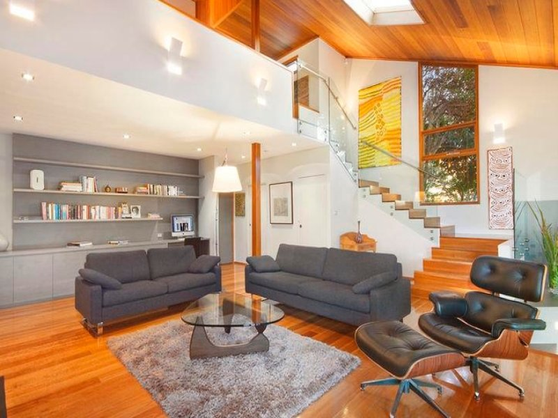Black living room idea from a real australian home for Family room designs australia