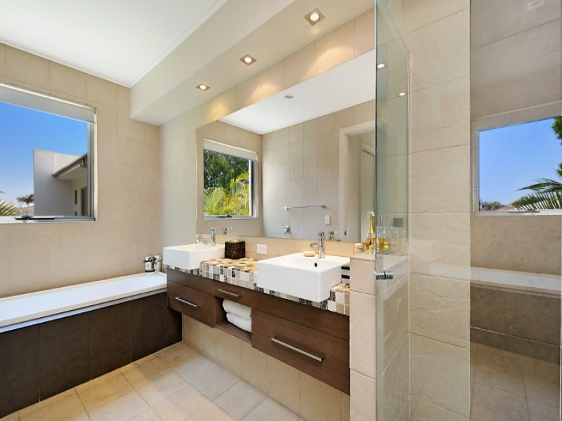Down Lighting In A Bathroom Design From An Australian Home   Bathroom Photo  499663