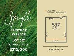 Lot 537, Karra Circle, Mount Barker