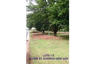 Lot 1-5, 16 Vine St, Dorrigo, NSW 2453