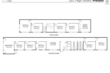 261 High Street Preston VIC 3072 - Floor Plan 1