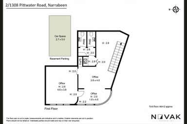 LEASED BY MICHAEL BURGIO 0430 344 700, 2/1308 Pittwater Road Narrabeen NSW 2101 - Floor Plan 1