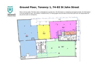 Tenancy 1 Ground Floor, 74-82 St John Street Launceston TAS 7250 - Floor Plan 1