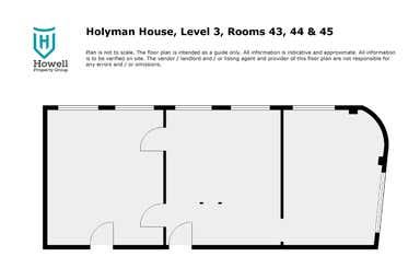 Level 3 Rooms 43, 44 & 45, 52 Brisbane Street Launceston TAS 7250 - Floor Plan 1