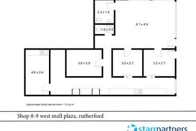 Shop 8 & 9 West Mall Plaza Rutherford NSW 2320 - Floor Plan 1