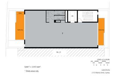 level 5, 17-19 Alberta Street Surry Hills NSW 2010 - Floor Plan 1