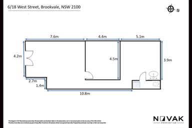 LEASED BY ARMMANO LAZIC 0451 677 321 & MICHAEL BURGIO 0430 344 700, 6/18 West Street Brookvale NSW 2100 - Floor Plan 1
