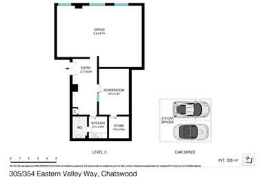 305/354 EASTERN VALLEY WAY Chatswood NSW 2067 - Floor Plan 1