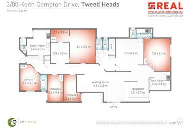 3 & 4, 80 Keith Compton Drive Tweed Heads NSW 2485 - Floor Plan 1