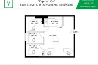 Capri on Via Roma, Suite 3 / Level 1, 15-21 Via Roma Isle Of Capri QLD 4217 - Floor Plan 1