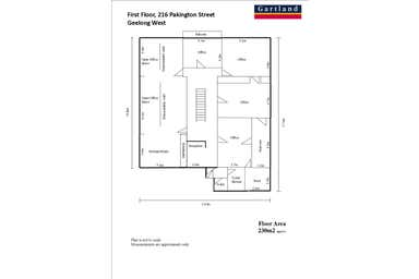 Level 1, 214 - 216 Pakington Street Geelong West VIC 3218 - Floor Plan 1