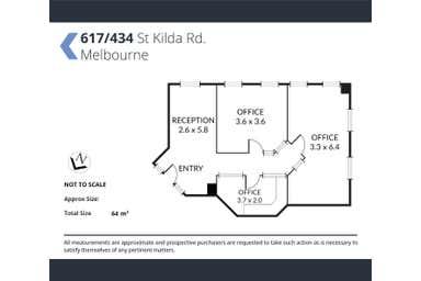 617/617/434 St Kilda Road Melbourne VIC 3004 - Floor Plan 1
