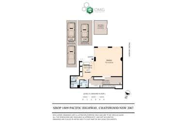 Shop 1, 809  Pacific Highway Chatswood NSW 2067 - Floor Plan 1