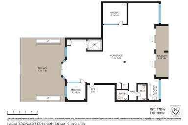 Level 2, 487 Elizabeth Street Surry Hills NSW 2010 - Floor Plan 1