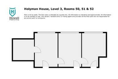 Level 3 Rooms 50, 51 & 52, 52 Brisbane Street Launceston TAS 7250 - Floor Plan 1