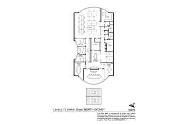 Level 3/73 Walker Street North Sydney NSW 2060 - Floor Plan 1