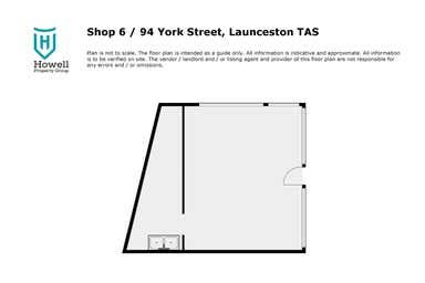 Shop 6, 94 York Street Launceston TAS 7250 - Floor Plan 1