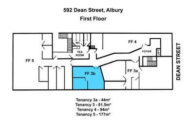 LVL 1, 3B, 592 Dean Street Albury NSW 2640 - Floor Plan 1