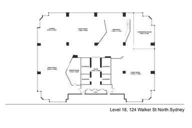 Level 18, 124 Walker Street North Sydney NSW 2060 - Floor Plan 1