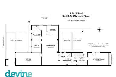 3/90 Clarence Street Bellerive TAS 7018 - Floor Plan 1