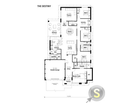 The Destiny - floorplan