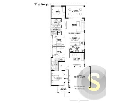 The Regal - floorplan