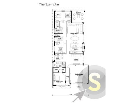 The Exemplar - floorplan
