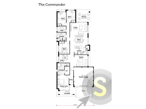 The Commander - floorplan