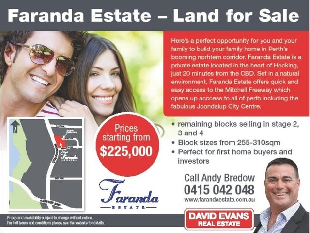 Stage 2,3,4 Faranda Estate, Hocking, WA 6065