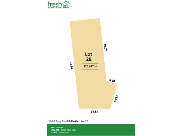 Lot 28 Morwell Drive (Off 18-20 Barry Road), Kellyville, NSW 2155