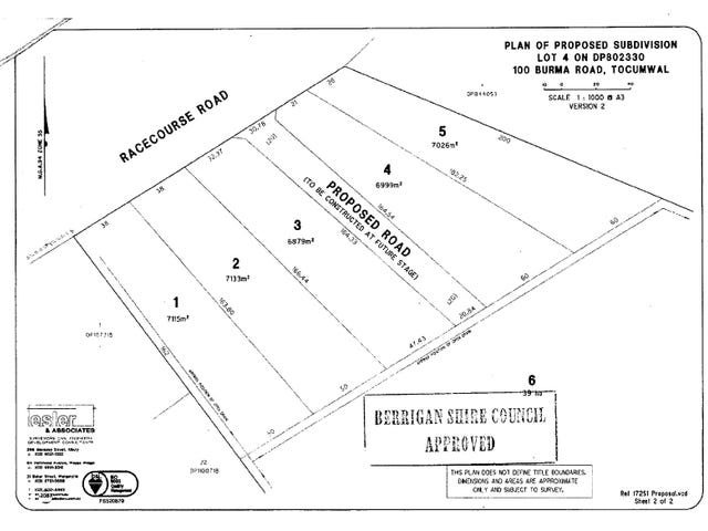 Lot 1,2,3,4,5, Racecourse Road, Tocumwal, NSW 2714