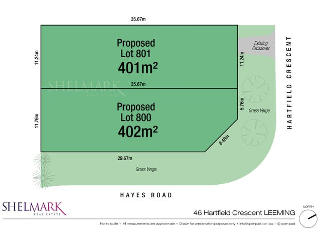 Lot 800 & 801, 46 Hartfield Crescent, Leeming, WA 6149