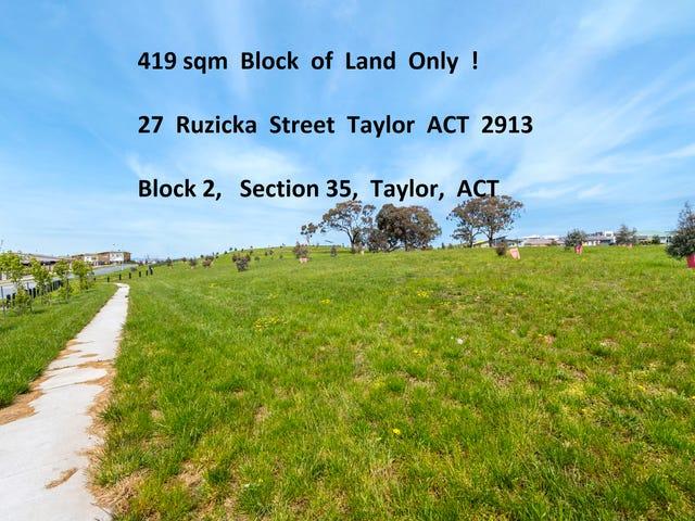 27 Ruzicka Street, Taylor, ACT 2913