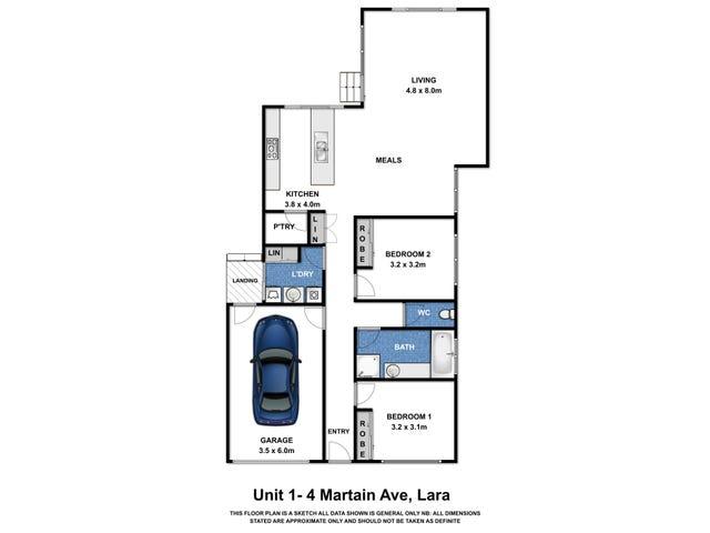Unit 1 & 2 /4 Martian Avenue, Lara, Vic 3212