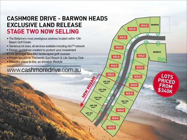 Lot 201-221, Cashmore Drive, Barwon Heads, Vic 3227