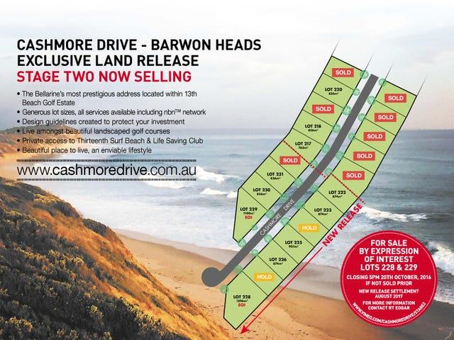 Lots 222-232 Cashmore Drive, Barwon Heads, Vic 3227