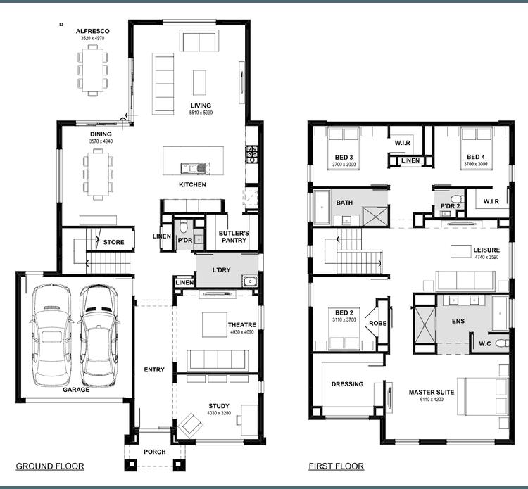 Sahara 40 Floor Plan