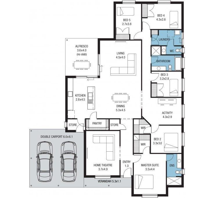 Vermont Alfresco Home Design House Plan By Sa Housing Centre