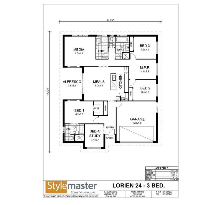 Lorien Floor Plan