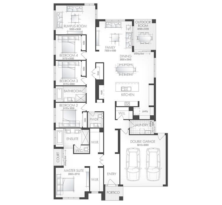 Botanica Home Design House Plan By Metricon Homes Qld Pty Ltd