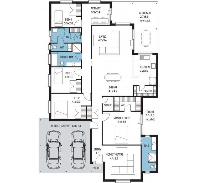 San Francisco Alfresco Home Design House Plan By Sa Housing Centre