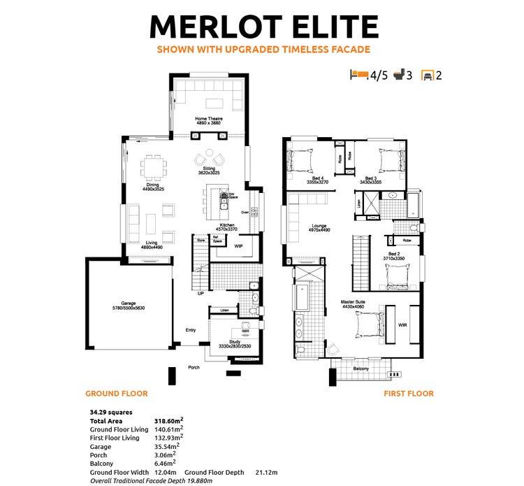 Merlot Elite Floor Plan