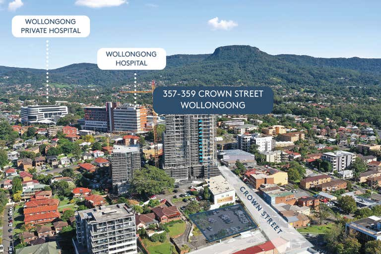 Wollongong CBD mixed use development opportunity , 357-359 Crown Street Wollongong NSW 2500 - Image 2